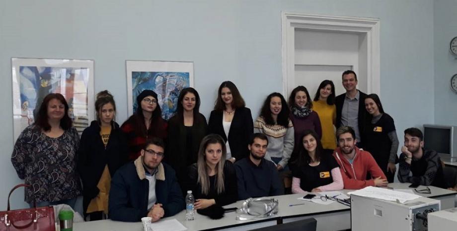 Наско от БГ Радио - гост-лектор във факултета по журналистика в Софийски Университет
