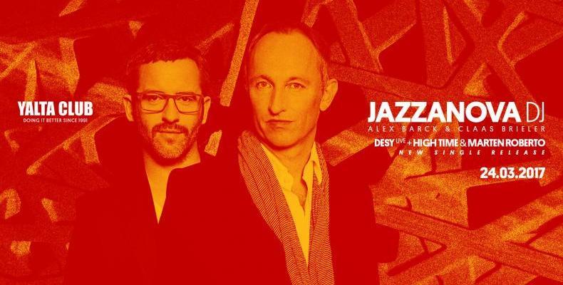 JAZZANOVA идват в YALTA CLUB на 24 март (петък)