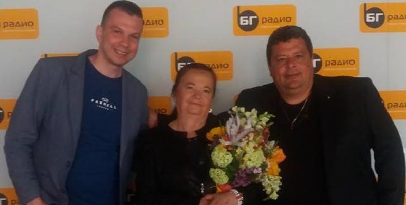 """Валя Балканска представя спектакъла """"Магията на Родопа"""" в БГ Радио."""