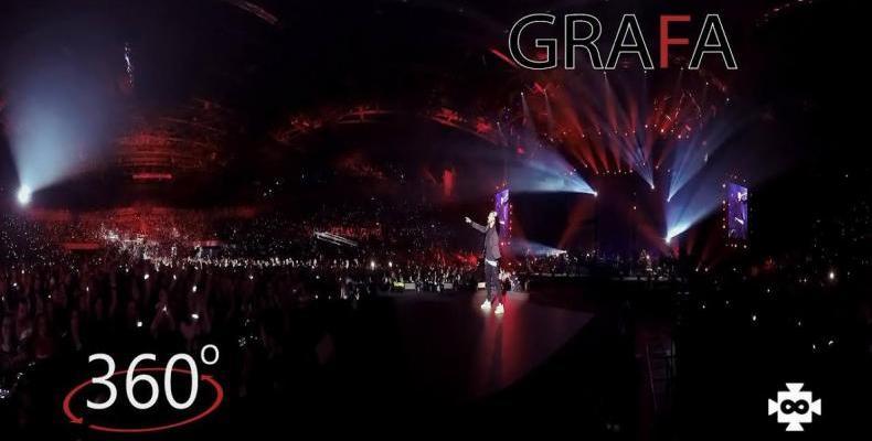 Графа ще представи серия от ексклузивни 360VR клипове от концерта си в Арена Армеец
