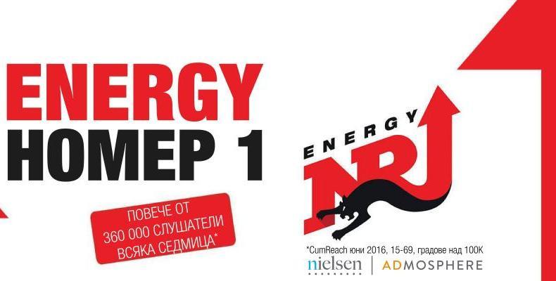 Радио ENERGY е най-слушаната станция за месец юни 2016