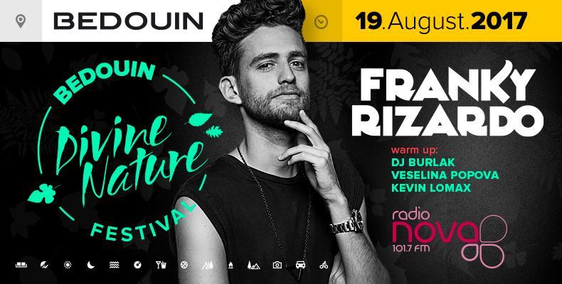 Franky Rizardo гост на Bedouin 'Divine Nature' Festival в Севлиево на 19 август