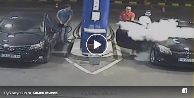 Наказаха момчета от Перник - пушели на бензиностанция