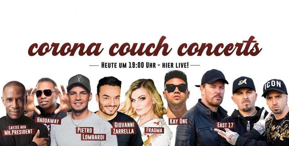 ГЛЕДАЙ НА ЖИВО Corona Couch Concert с East 17, Haddaway, Mr. President, Fragma и много други!