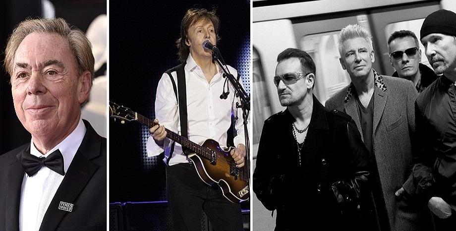 Класация на най-богатите британски музиканти