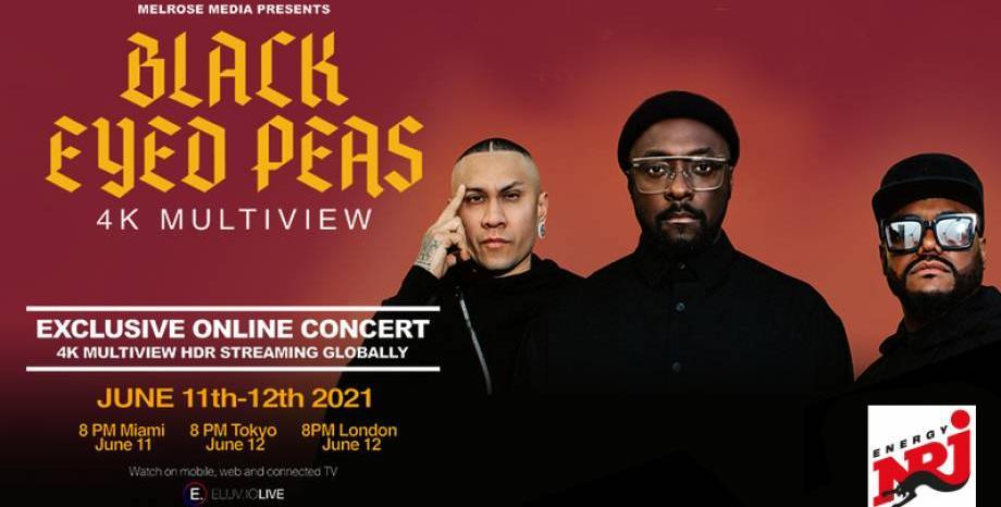 Black Eyed Peas с ексклузивен онлайн концерт!