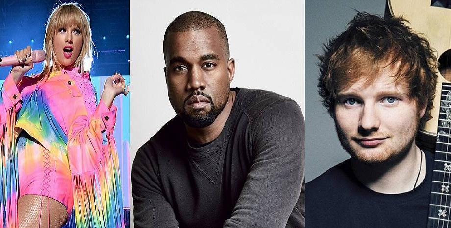 Taylor Swift, Kanye West и Ed Sheeran в Топ 5 на 100-те най-богати знаменитости според Forbes