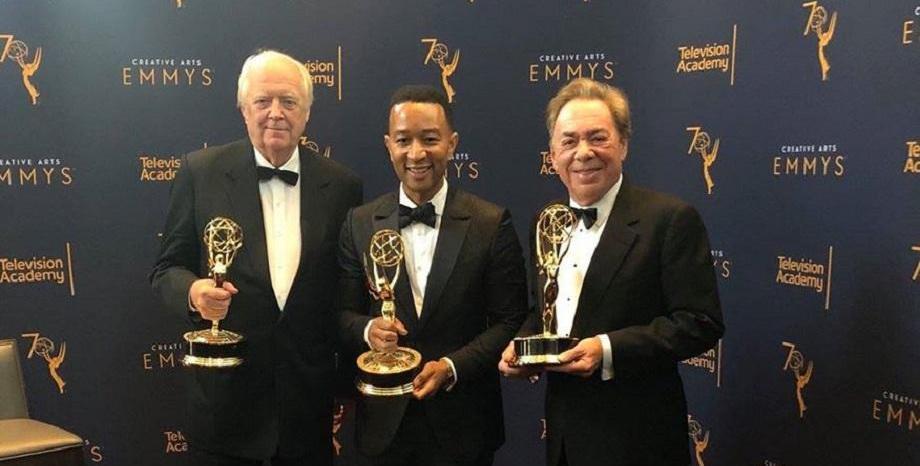 Джон Леджънд с четирите най-важни награди в шоубизнеса в света